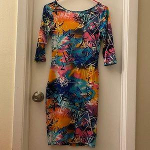 Nicki Manaj 3/4 sleeve dress